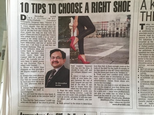 10 tips to choose right shoe- Dr Shreedhar Archik